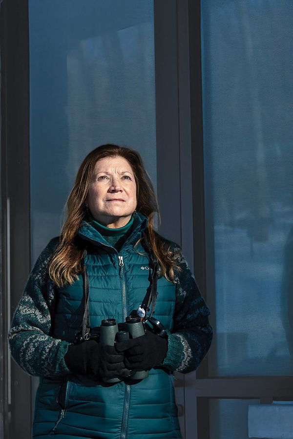 Laurie Goodrich stands for a portrait