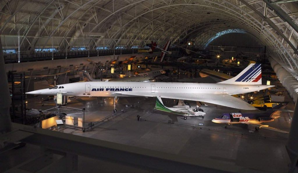 Concorde F-BVFA, on view at the Smithsonian's Udvar-Hazy Center in Chantilly, Virginia, was the first to open service to Rio de Janeiro, Washington, D.C., and New York. It flew 17,824 hours.