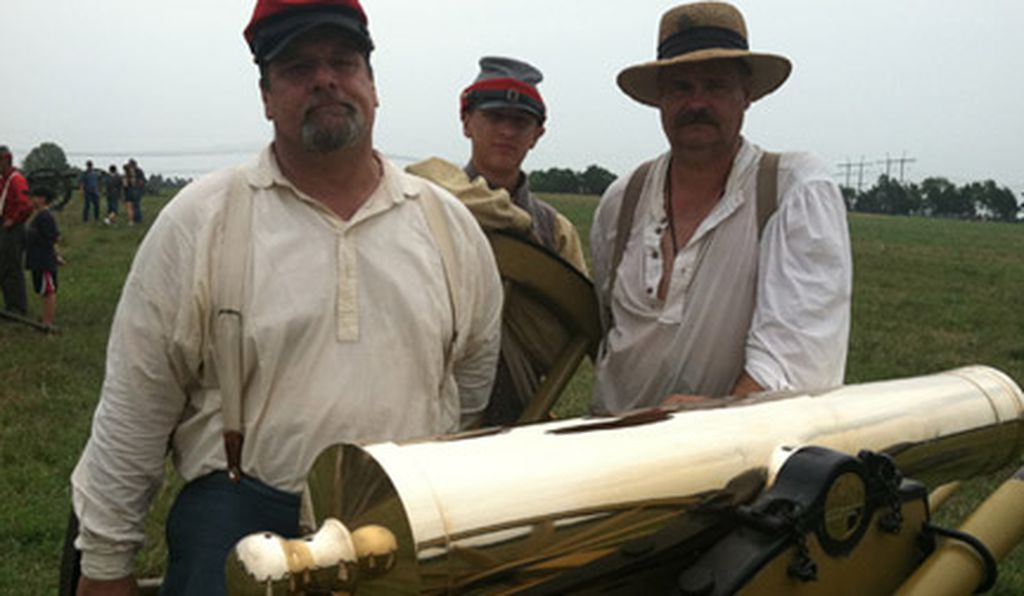 Reenactors at the 150th anniversary of First Bull Run, July 2011