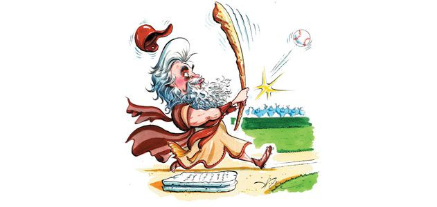 illustration of Moses at the bat
