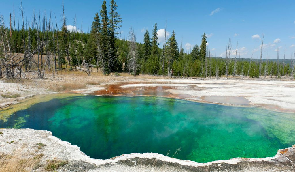 Abyss Pool at Yellowstone National Park, Wyoming
