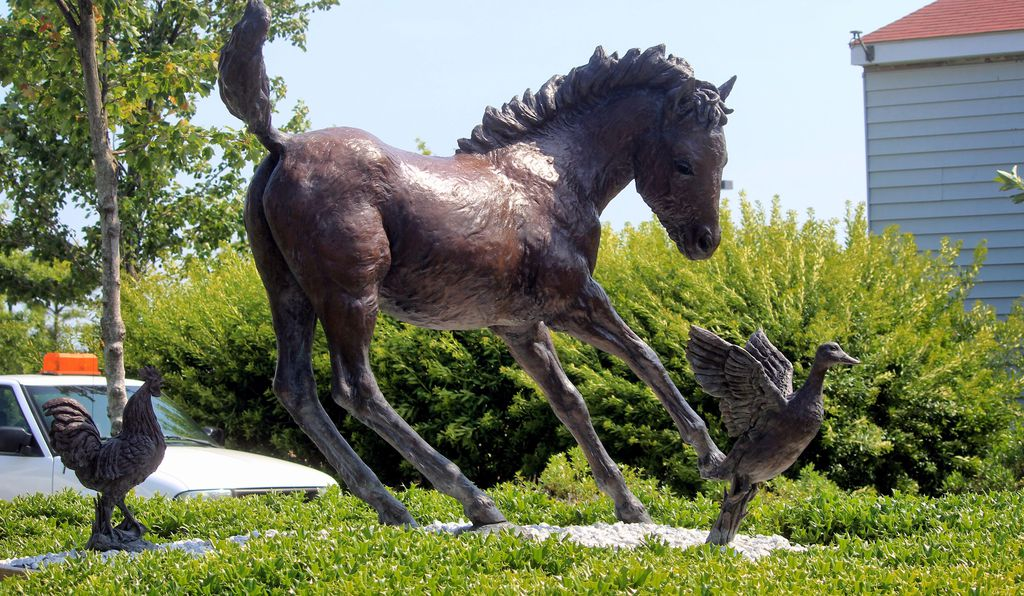 The legend of Misty lives on in this statue erected in her honor in Chincoteague.