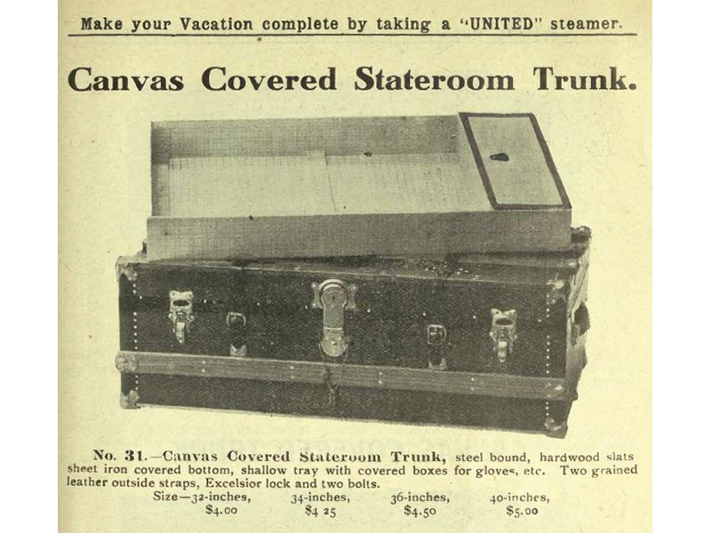 United stateroom trunk