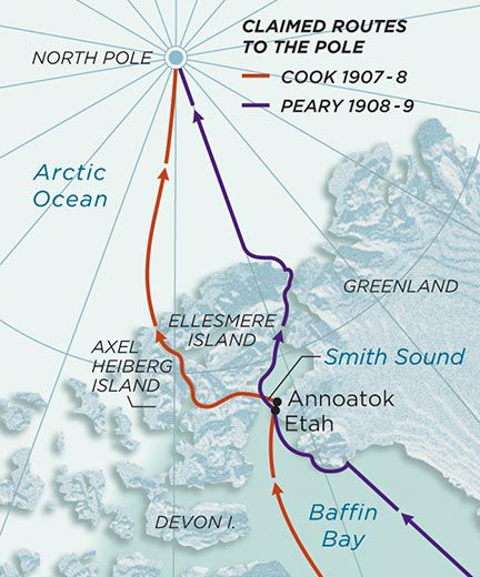 who discovered the north pole  history  smithsonian the claimed routes of frederick cook and robert peary to the north pole  guilbert gates