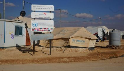A scene from Zaatari refugee camp, Jordan.