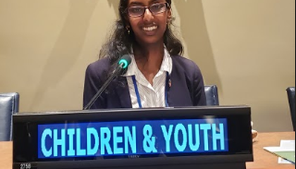 We attended the UN High-Level Political Forum with the support of the Global Co Lab Network who we represented at the United Nations and the Eco Teen Action Network.