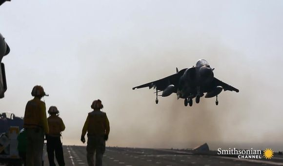 Preview thumbnail for video'This Marine compares flying the Harrier to riding a dragon