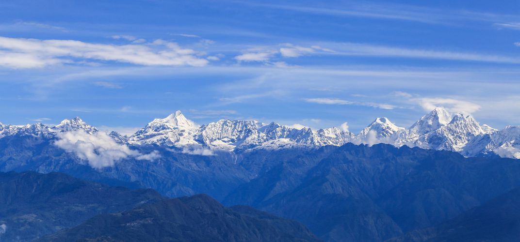 View of the Himalayas from Nagarkot, Nepal