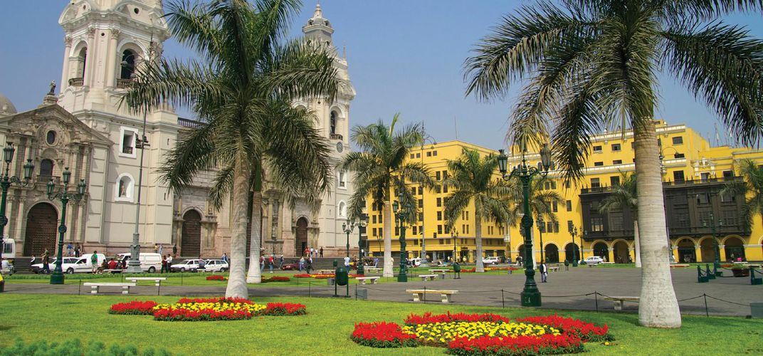 Town square in Lima