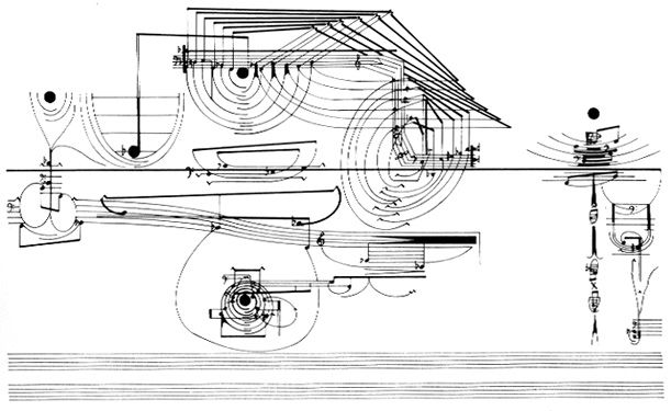 """Page 183 of the score for Corenlius Cardew's """"Treatise"""""""