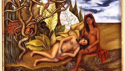 frida kahlo two nudes in the forest painting