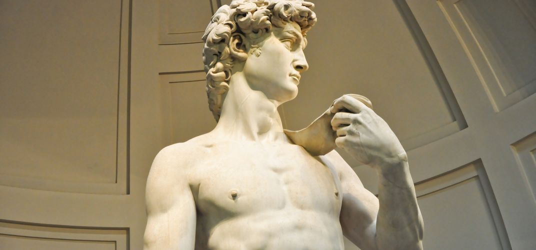 Michelangelo's <i>David</i> in the Accademia in Florence
