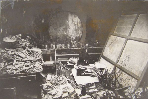 Francis Bacon's Studio, photograph, c. 1975