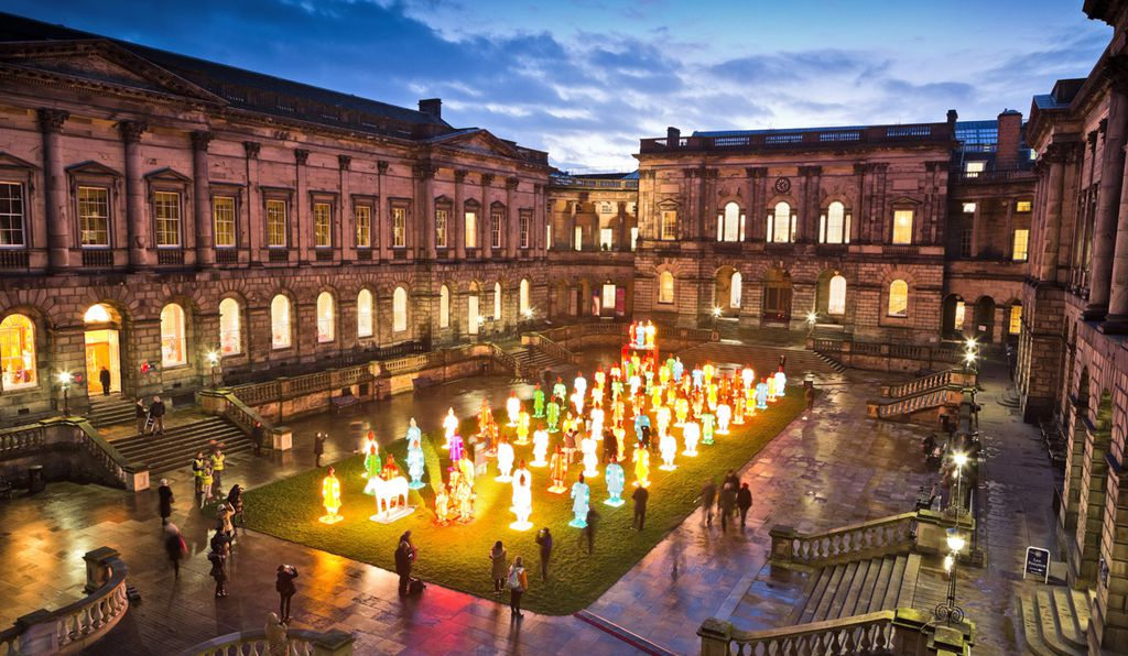 Over 90 Chinese warriors will light up the University of Edinburgh's quadrangle.