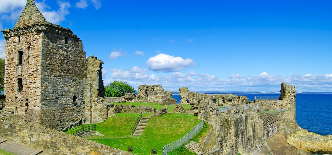 The ruins of St. Andrews Castle