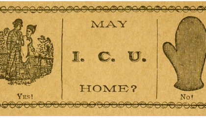 Instead of Cheesy Pickup Lines, 19th-Century Americans Gave Out Calling Cards
