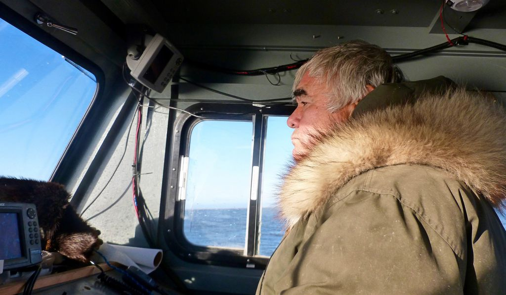 Kaktovik's Robert Thompson is one of a handful of local certified guides who take visitors on boat tours to view polar bears and other wildlife.
