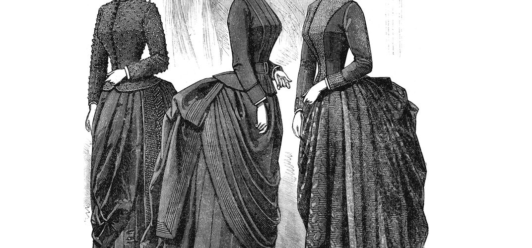 Caption: Like Crinolines, Bustles Were a Pain in the Behind