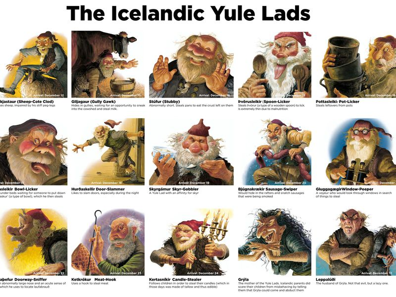 Meet the Thirteen Yule Lads, Iceland's Own Mischievous Santa