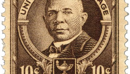 How Booker T. Washington Became the First African-American on a U.S. Postage Stamp