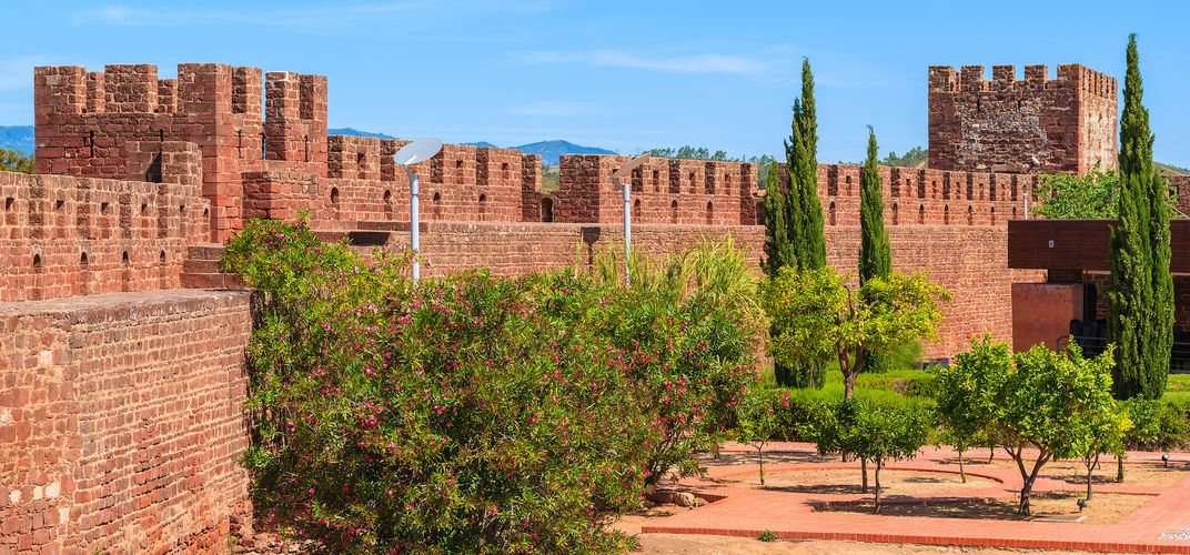 The ramparts of the 12-century Moorish castle, Silves