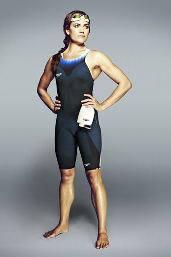 2652007395c75 In 2008, Natalie Coughlin became the first American female athlete to win 6  Olympic medals in one Games. She poses here in Speedo's new suit. (Speedo)
