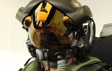 The Lightning II helmet being developed for the F-35.