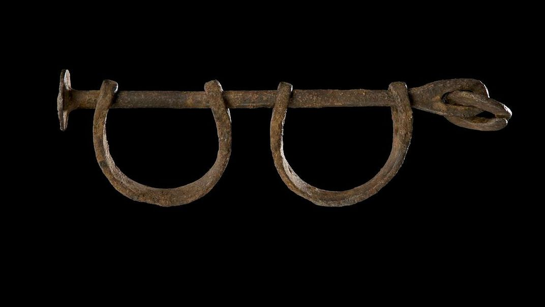 Shackles used in Transatlantic Slave Trade