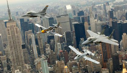 Generations of air power were on display during a recent Heritage Flight.