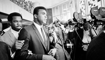 Heavyweight champion Muhammad Ali