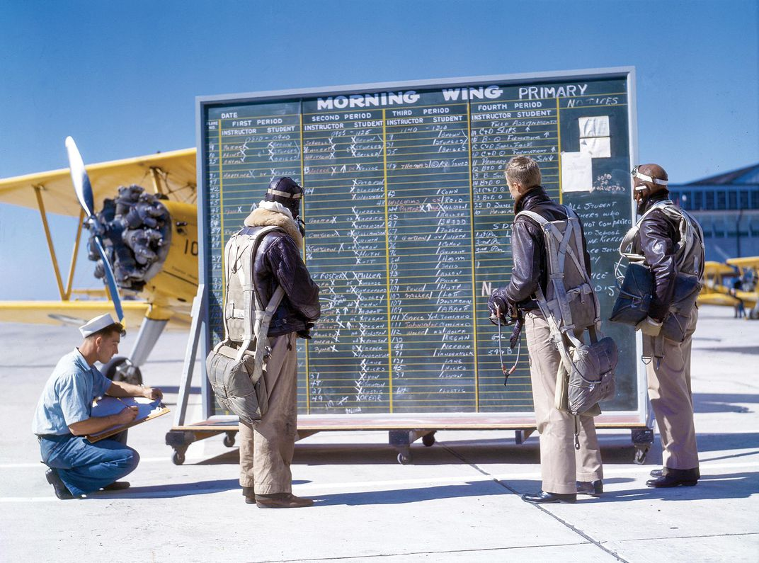 cadets checking chalkboard