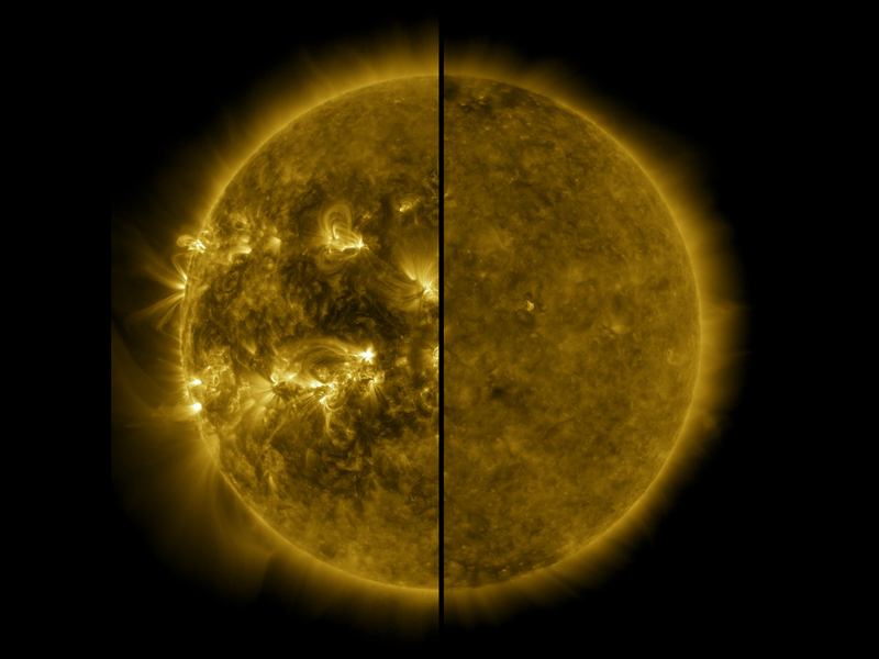 solar maximum and minimum