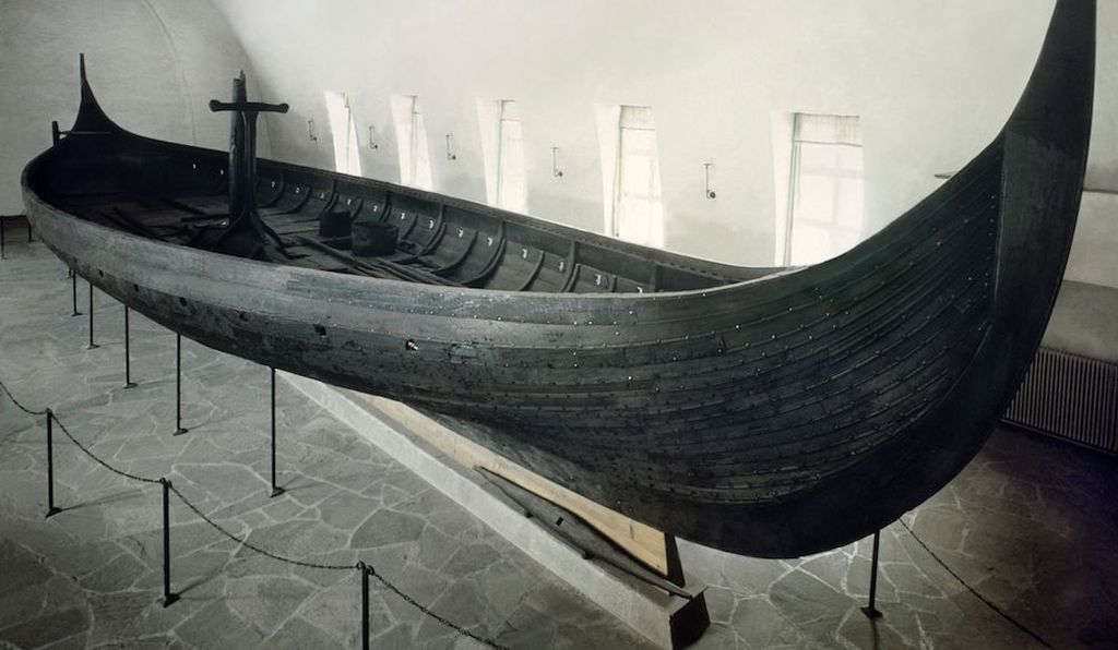 Gokstad ship at the Viking Ship Museum in Oslo