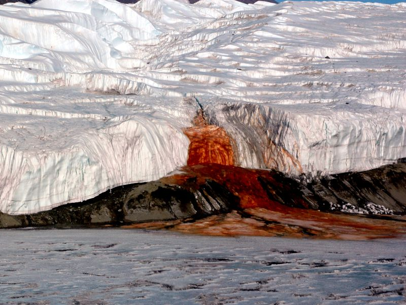 facts about Antarctica: Blood falls
