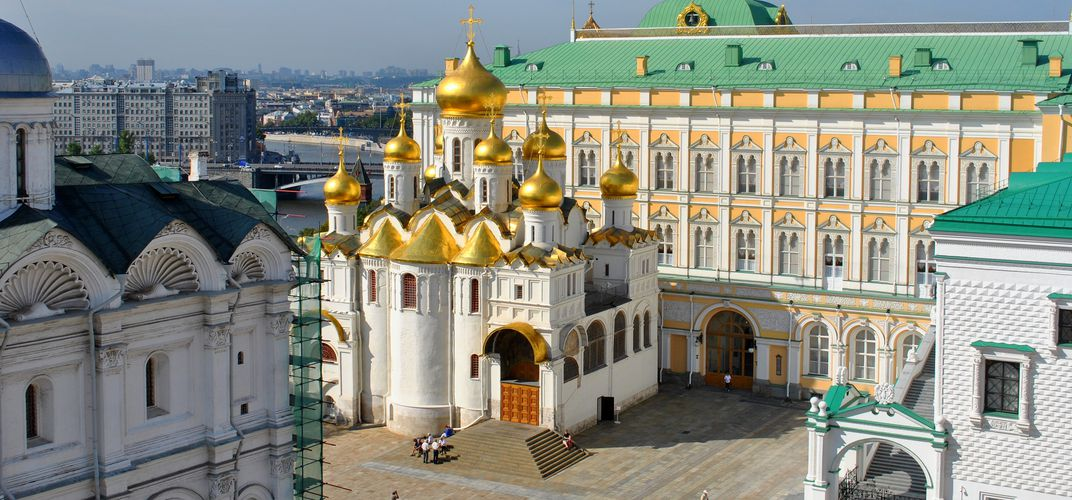 One of the many churches within the Kremlin