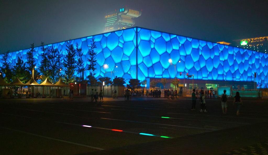 The Water Cube in Beijing is now an Olympic-sized waterpark.