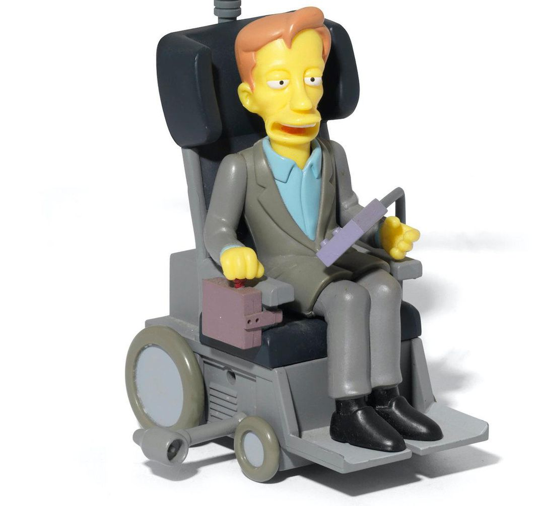 """Stephen Hawking figurine from """"The Simpsons"""""""