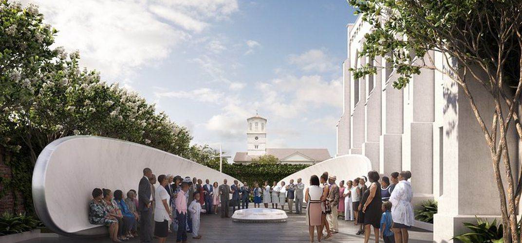 Caption: Plans for Emanuel AME Memorial Unveiled