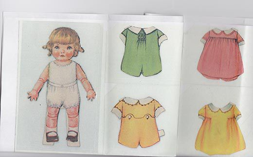 In 1920 The Paper Doll Baby Bobby Has A Pink Dress His Wardrobe As Well Lace Trimmed Collars And Underclothes Winterthur Museum Library
