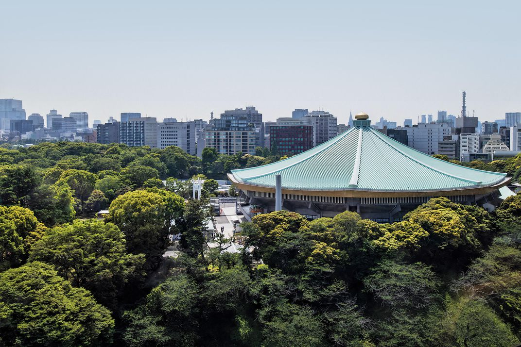 The iconic Nippon Budokan, site of judo and karate events
