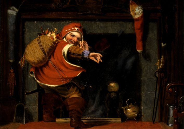 Caption: A Mischievous St. Nick