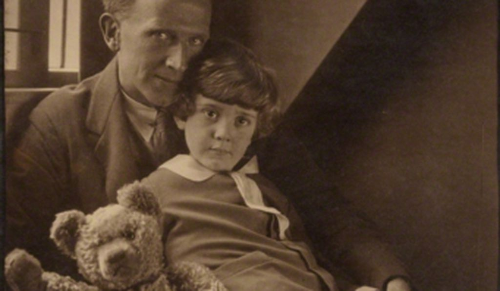 A.A. Milne and his son, Christopher Robin Milne.