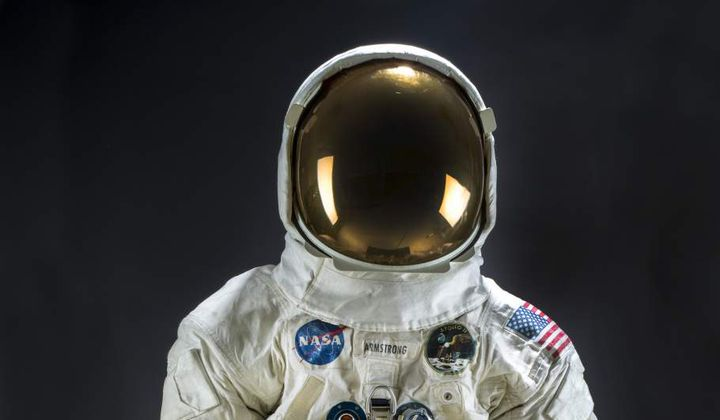 Neil Armstrong's Restored Spacesuit Put on Display