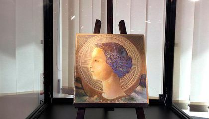 Is This Painted Tile Da Vinci's Earliest Known Work?