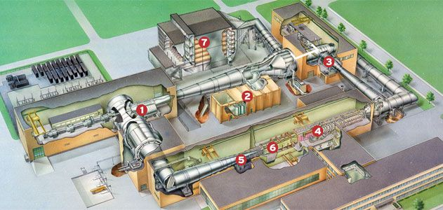 An cutaway of the supersonic wind tunnel.