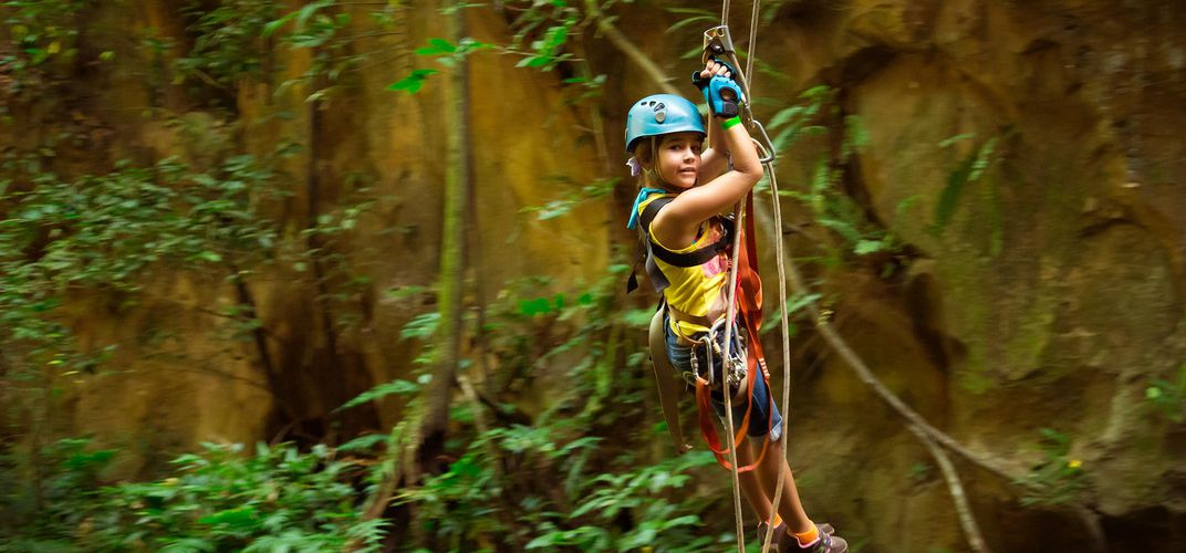 The excitement of a zip line in Costa Rica