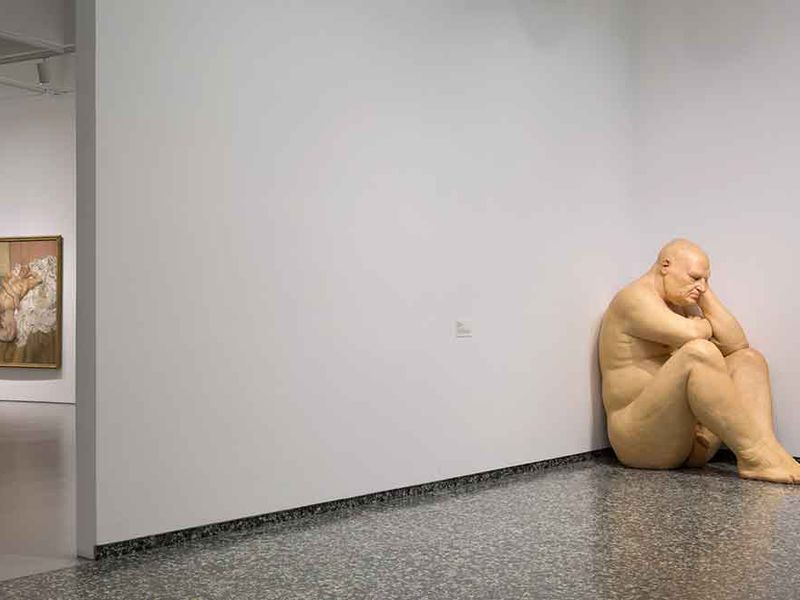the hyperreal magnetism of ron mueck s truly huge big man at the