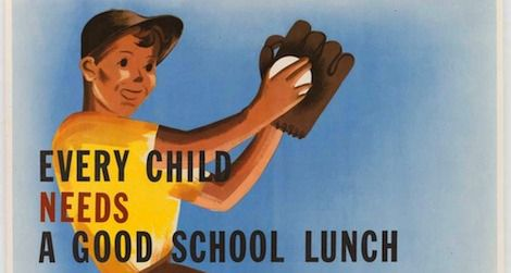 School lunch program poster