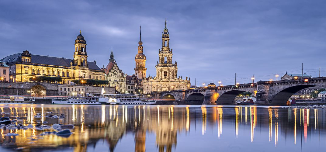 Dresden, situated along the Elbe River