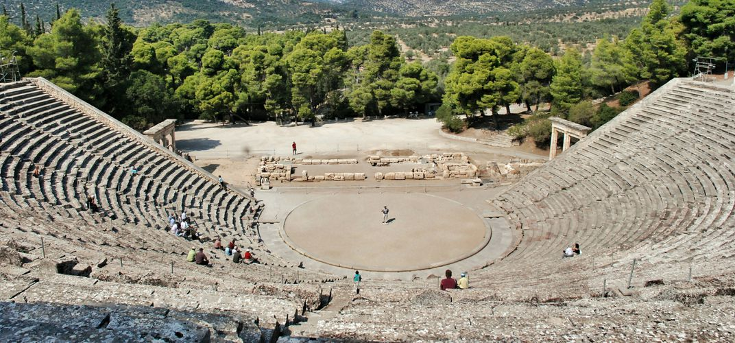 The dramatic theater at Epidaurus